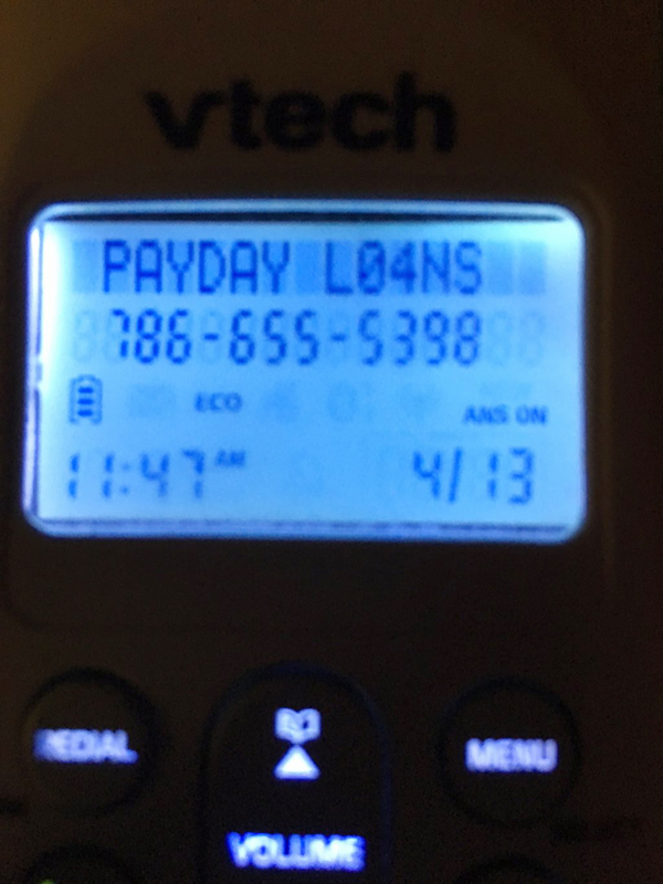 PayDay Loans caller ID